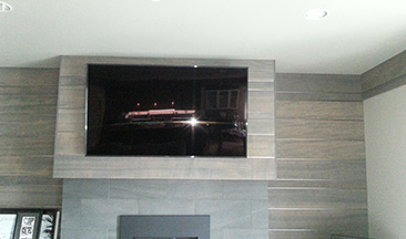 Our home improvement company in Lynnwood, WA, mounted a television.