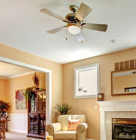 Ceiling fan installation services in Lynnwood, WA.